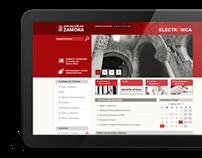 Web de la Sede electrónica de la Diputación de Zamora