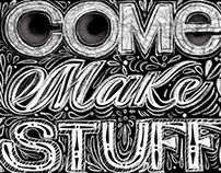 Chalk board lettering procreate