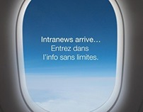 Affiche interne Air France Intranews