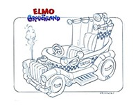 Elmo in Grouchland vehicles