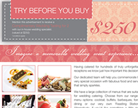 Flavours Catering Complimentary Wedding Tasting Flyer