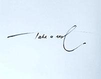 One stroke lettering
