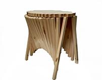 Diseño de Mobiliario. Rising Side Table