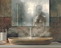Bathroom in Safari style