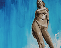 Surf Girl Watercolors
