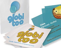 Diseño imagen corporativa para Globitos moda infantil