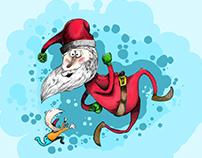 Runaway Santa Drawing