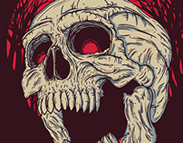 Red Skull - Memphis May Fire - Poster