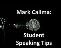 Mark calima student speaking tips