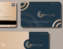 Free Modern Gift Card Mockup