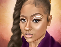Jazmine Sullivan Digital Art by Wayne Flint