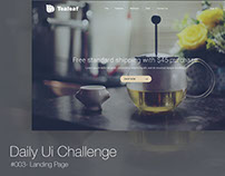 #003 - Landing Page - Daily UI Challenge