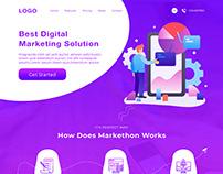 Digital Marketing Landing page - UI UX Design