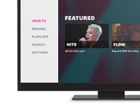 Vevo TV UI