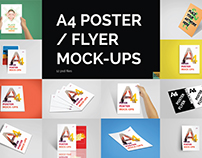 A4 Poster / Flyer Mockups | FREE Download