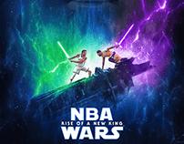 NBA WARS poster for Bleacher Report