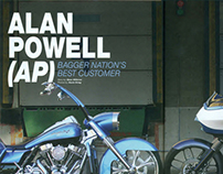 AP Alan Powell featured in Bagger Nation Magazine