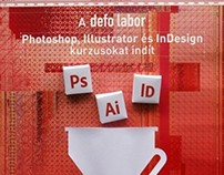 3D Poster for Defo Labor's Adobe sofware courses