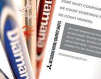 Mitsubishi Golf Shaft Ads