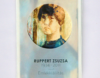 Invitatin card for the exhibition of Zsuzsa Ruppert