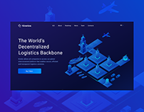 Concept Design For ICO Landing Page