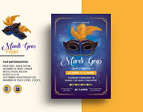Mardi Gras Party Flyer Template