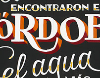 Cervezas Califa, lettering & sign painting