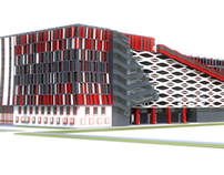 Concept of Parking and Office Building