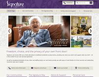 Signature Care Homes Website