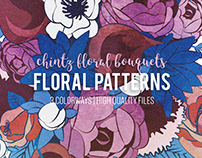 Chintz floral patterns