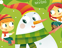 Merry Christmas. Ilustración infantil