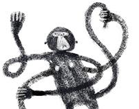 Monkey`s faces