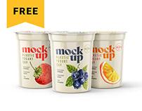 Free Yogurt Cup Mockup Set | Packaging