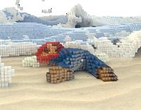 Super Mario 3D pixelart