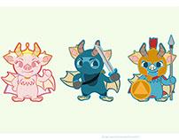 Mascotas para projecto de pagina web de rol gaming