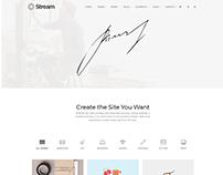 Stream One-Page WordPress Theme by Visualmodo