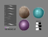 Fur Brush Set for Adobe Photoshop