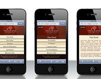Villa Ganz - Website - Mobile version