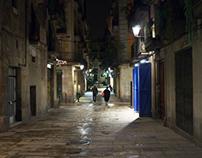 When the night falls (El Borne, Barcelona)
