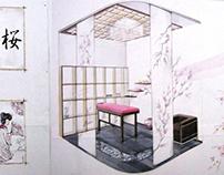 """Interior draft design of beauty salon """" Sakura """""""