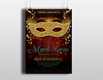 Mardi Gras Party Flyers