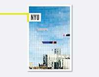 NYU All University Travel Brochure Cover + Interior