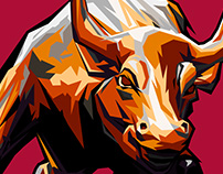 Bull illustration
