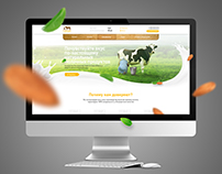Milk products website with parallax effect.