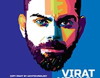 Virat Kohli wpap art