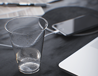 Plastic water glass | Full CGI