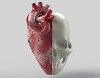 3D Heart/Skull Logo