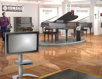Yamaha Piano showroom at Harrods