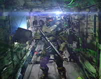 Compositing test - Master Chief aboard the ISS