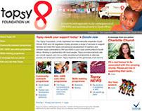 Topsy UK website design